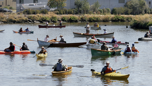 Free paddling in Petaluma. (photo by Mark Aronoff)