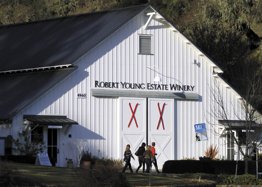 Robert Young Estate Winery. (photo by Crista Jeremiason)