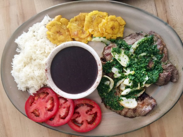 Steak Chimichurri at Rumba Cuban Kitchen in Windsor, CA. Photo: Heather Irwin.