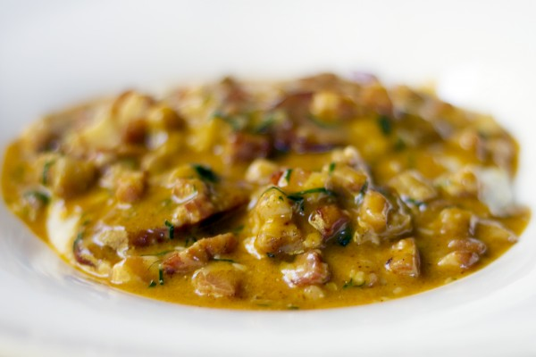 Shrimp and grits at Harvest Table in St. Helena. Photo: ©Heather Irwin