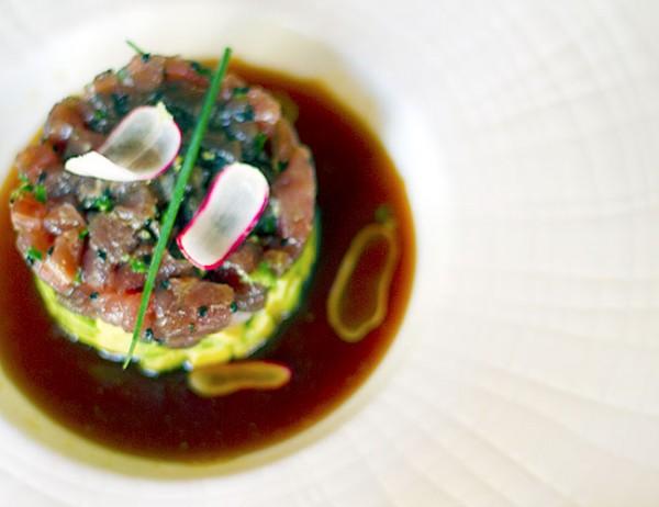 Tuna tartare at Dry Creek Kitchen in Healdsburg. Photo: ©Heather Irwin