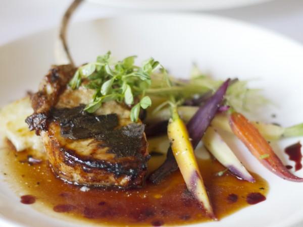 Tomahawk pork chop at Dry Creek Kitchen in Healdsburg Photo: ©Heather Irwin