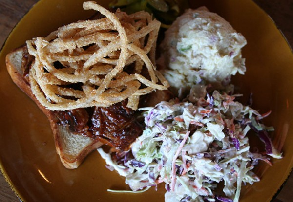 Brisket Sandwich Heritage Public House in Santa Rosa: Photo Heather Irwin