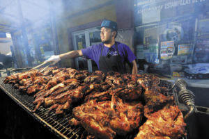 Jose Ojeda grills 400 chickens each weekend at El Brinquito Market & Meat in Sonoma.