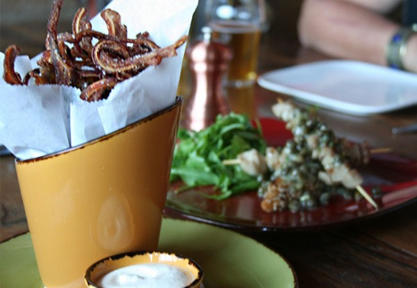 Heritage Public House in Santa Rosa: Fried pig ears. Photo Heather Irwin