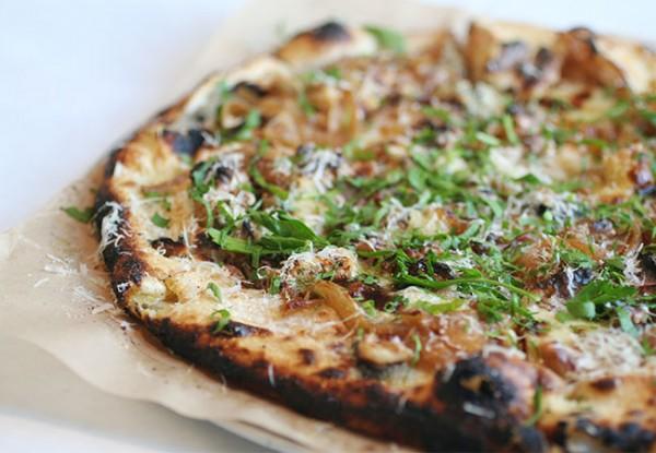 Gorganzola pizza Restaurant in Occidental. Photo Heather Irwin.