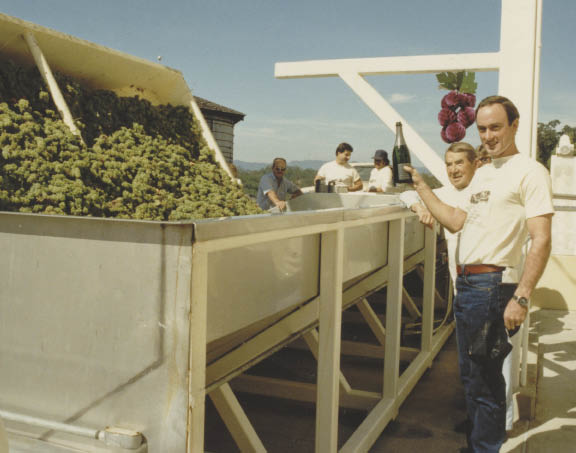 """""""Everything André taught me has come to fruition,"""" says Davis of the Russian immigrant known as the guru of California winemaking. (Photos courtesy Jordan Vineyard & Winery)"""