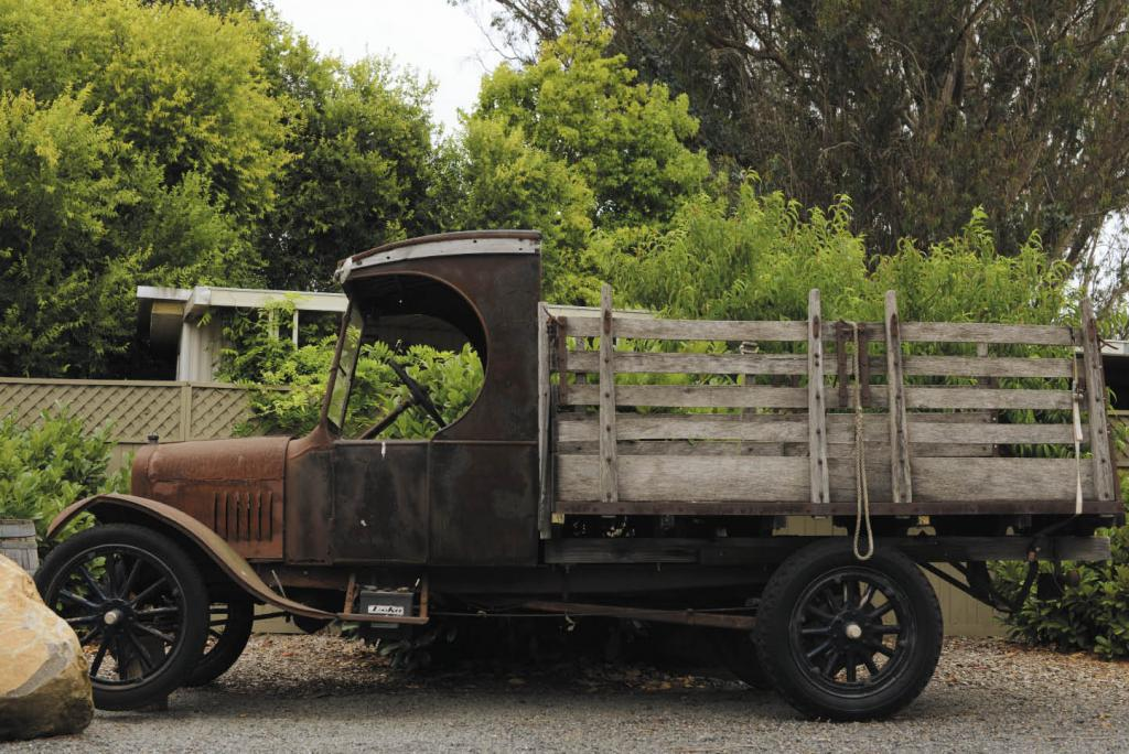A 1923 Ford Model-T owned by Art Paul of Graton Ridge Cellars in Sebastopol doesn't run, but it does amuse tasting room visitors.