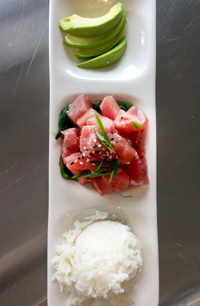 Ahi tuna poke from Santa Rosa Seafood Raw Bar and Grill. Photo: Heather Irwin
