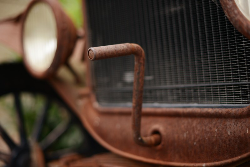 The hand-crank of a 1923 Ford Model-T owned by Art Paul of Graton Ridge Cellars located in Sebastopol, California. July 9, 2015. (Photo: Erik Castro/for Sonoma Magazine) Erik Castro