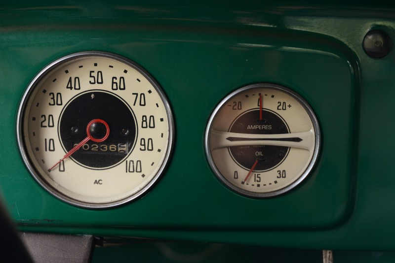 he front panel gages of a 1936 Chevy truck owned by Chris O' Neill at his Corks Restaurant at Russian River Vineyards in Forestville, California. July 9, 2015. (Photo: Erik Castro