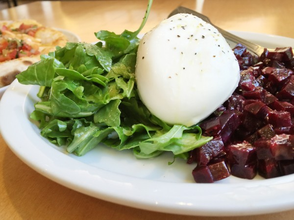 Burrata and beet salad at Persona Pizza in Santa Rosa