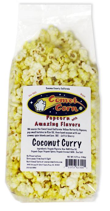 Coconut Curry Popcorn Recipe — Dishmaps