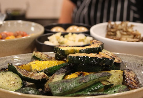 Grilled squash at Bird and The Bottle