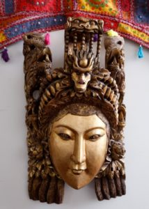 An Indonesian goddess sculpture made of wood at Urban Refind in Sonoma, California on Thursday, October 15, 2015. (Alvin Jornada / The Press Democrat)