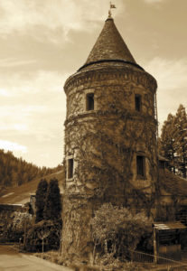 The brandy tower at Korbel Champagne Cellars in Guerneville, a winery with a history of strange happenings. (Photo by Christopher Chung)