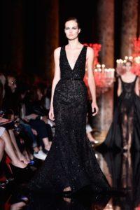Sheer black dress by Elie Saab (Courtesy / Elle Magazine)