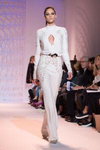 White jumpsuit by Zuhair Murad (Courtesy / Elle Magazine)