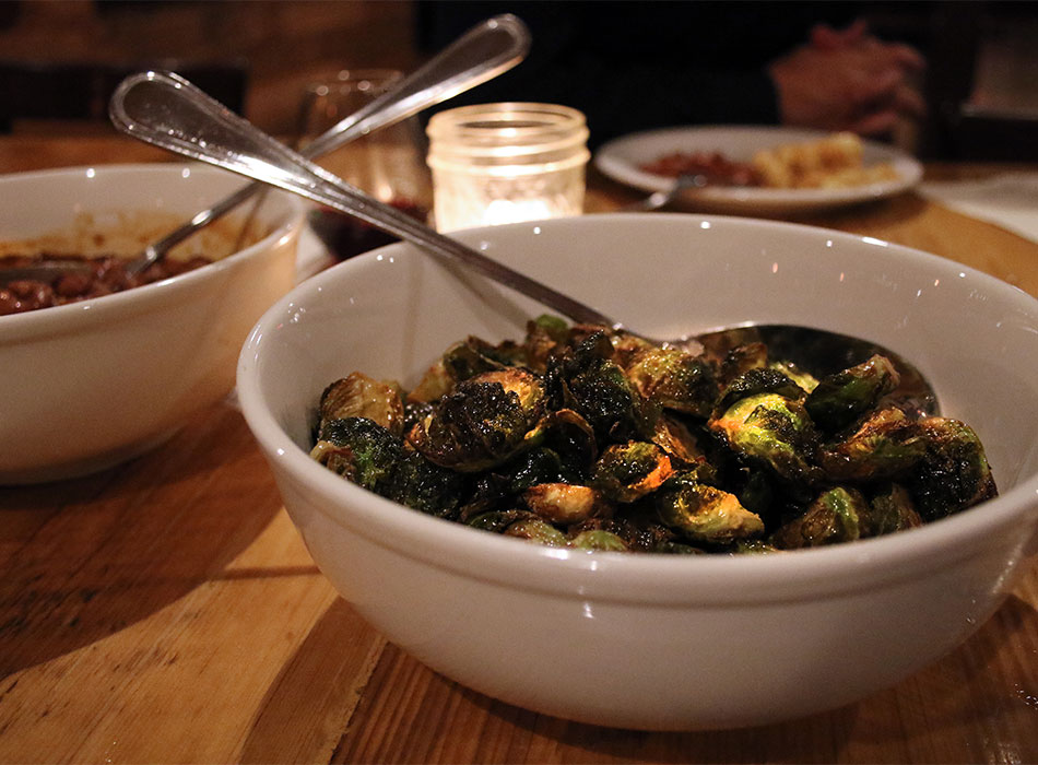 Brussels sprouts at Rossis 1906 in Sonoma, California