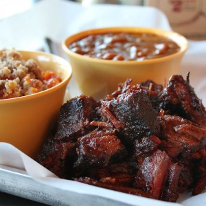 Burnt Ends at Sauced Barbecue Smokehouse in Petaluma, California. Heather Irwin.