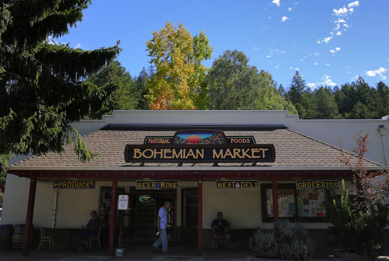 The Bohemian Market, in Occidental, features locally grown produce and a popular deli. (Christopher Chung/ The Press Democrat) Occidental Sonoma Mag Christopher Chung