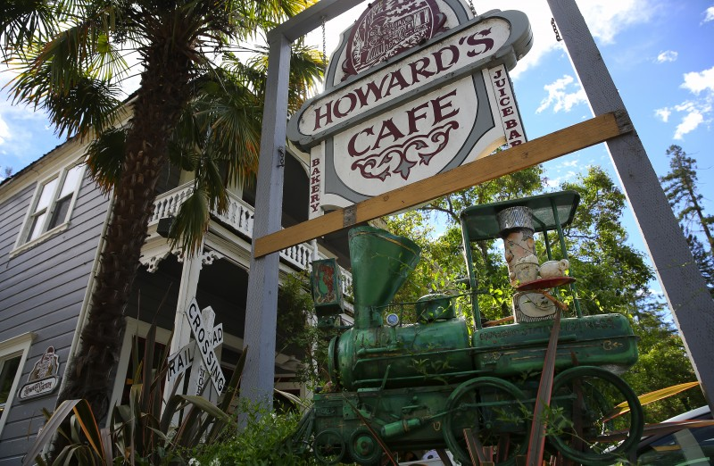 Howard's Cafe is a popular spot in Occidental. (Christopher Chung/ The Press Democrat) Occidental Sonoma Mag Christopher Chung