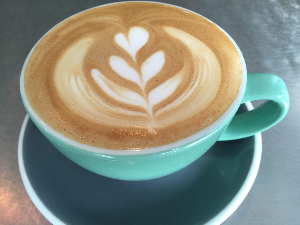 Latte at Brew Coffee and Beer in Santa Rosa