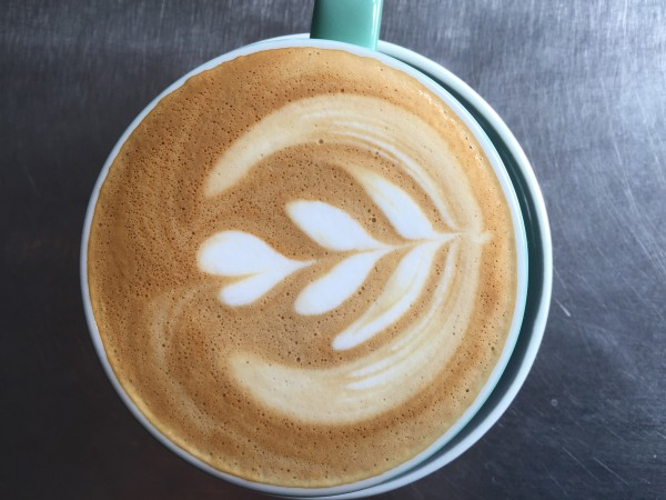 Cafe Latte at Brew Coffee, Tea and Beer in Santa Rosa. (Heather Irwin/The Press Democrat)
