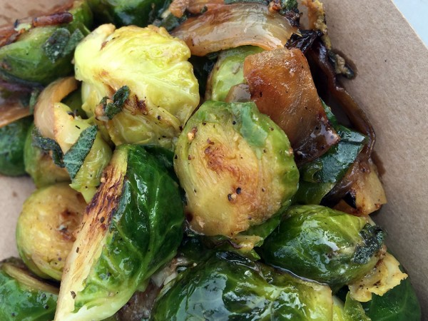Noms Brussels sprouts from Croques and Toques in Sonoma County.