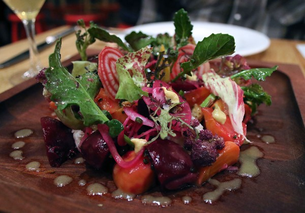Farro salad at SHED Cafe in Healdsburg, California. Photo: Heather Irwin.