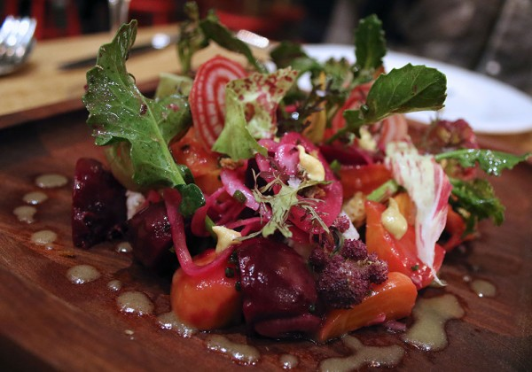 Wild Farro salad at SHED Cafe in Healdsburg, California. Photo: Heather Irwin.
