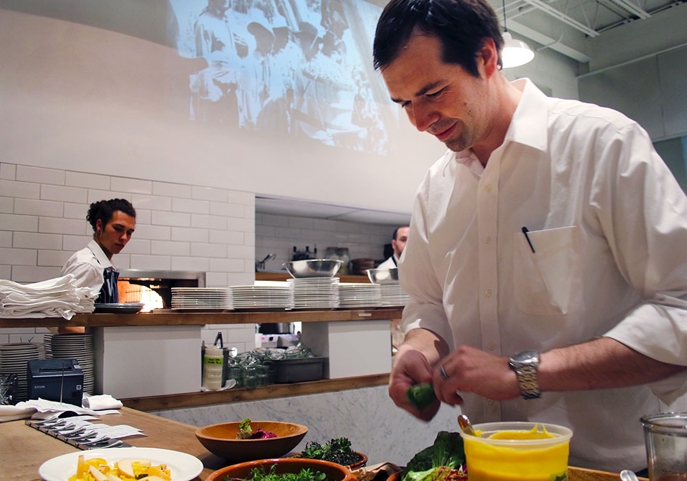 Chef Perry Hoffman at SHED Cafe in Healdsburg, California. Photo: Heather Irwin