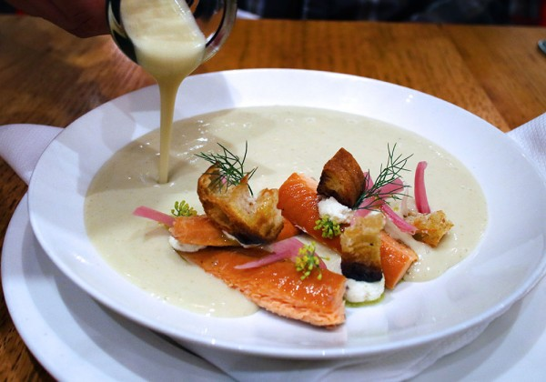 Wild Fennel Soup at SHED Cafe in Healdsburg, California. Photo: Heather Irwin