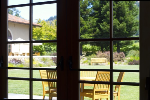 The view from the dining room at St. Francis WInery and Vineyards, which won Opentable.com's Best Restaurant in America in 2014 and 2015.