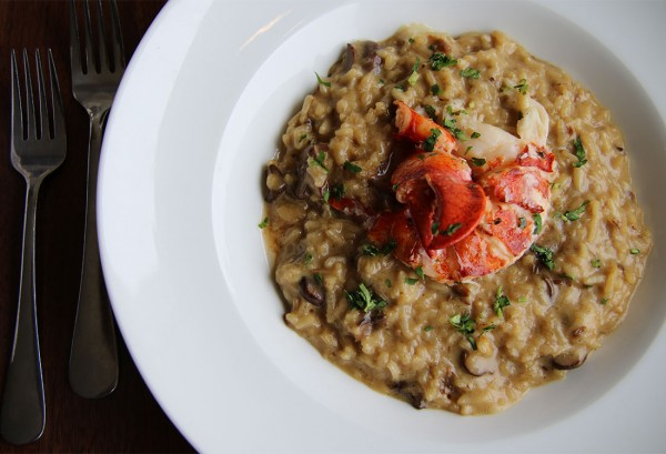 Lobster risotto at Sonoma Grille in Sonoma, California. Photo: Heather Irwin.