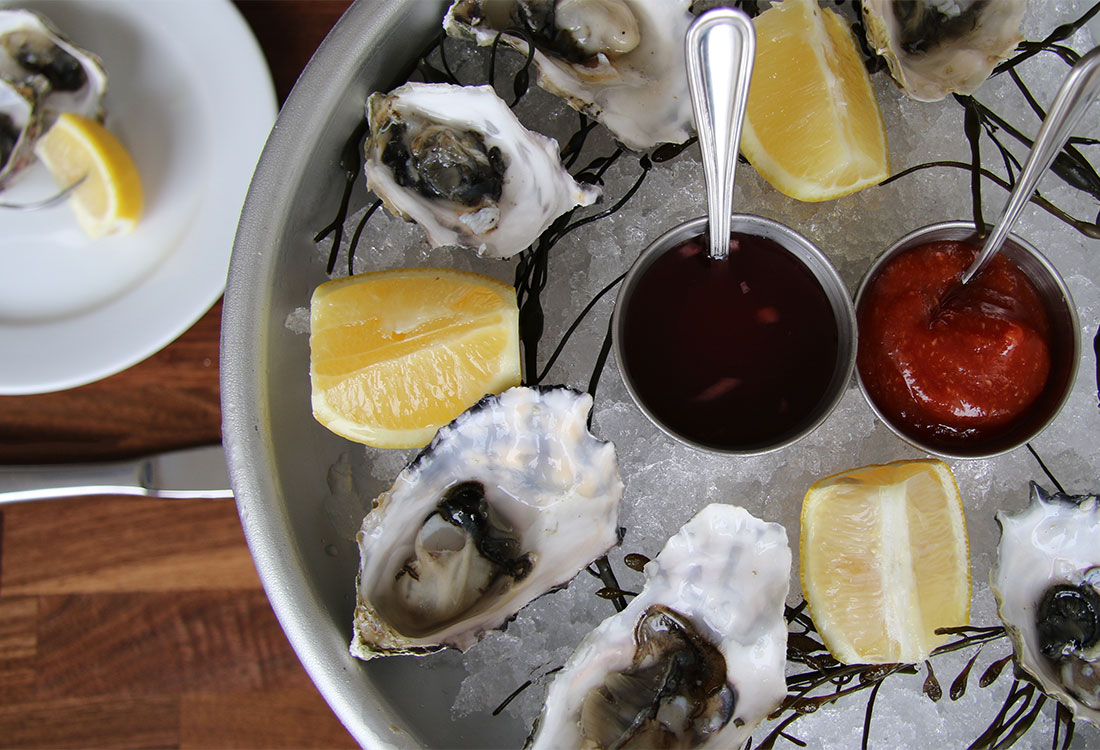 Oysters at Sonoma Grille in Sonoma, California .Photo: Heather Irwin.