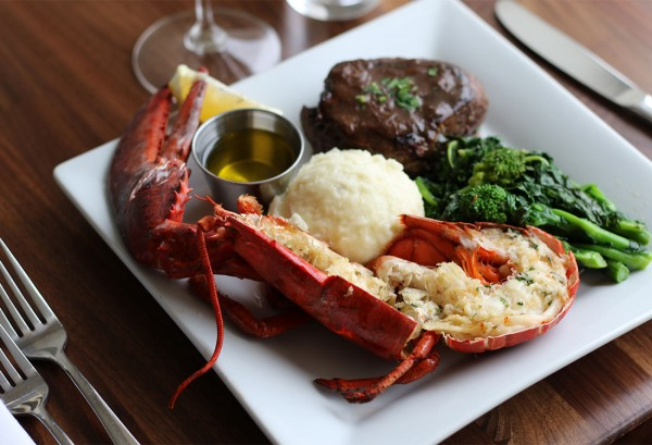 Surf and Turf at Sonoma Grille in Sonoma, California. Photo: Heather Irwin.