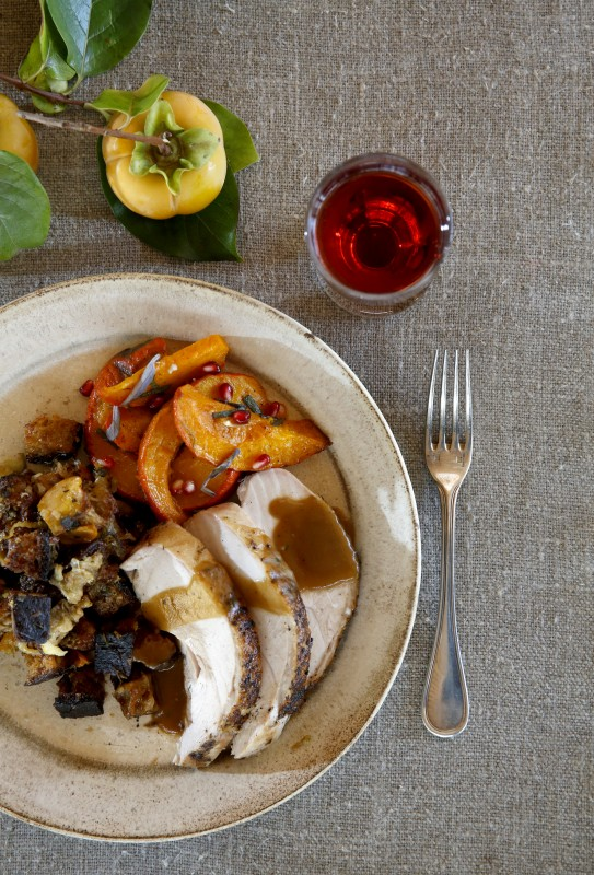 Hassle-free Thanksgiving dinner includes turkey breasts, stuffing, gravy and squash. Photo taken at Shed in Healdsburg, on Thursday, November 5, 2015. (BETH SCHLANKER/ The Press Democrat) Thanksgiving at Shed