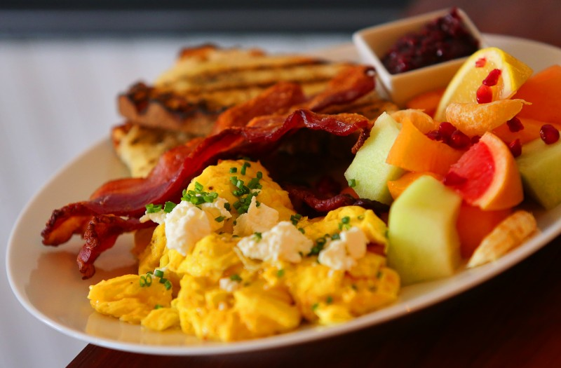 The Breakfast Plate, served all day at Savvy on First, in Cloverdale. (Christopher Chung/ The Press Democrat) Cloverdale Sonoma Magazine Christopher Chung