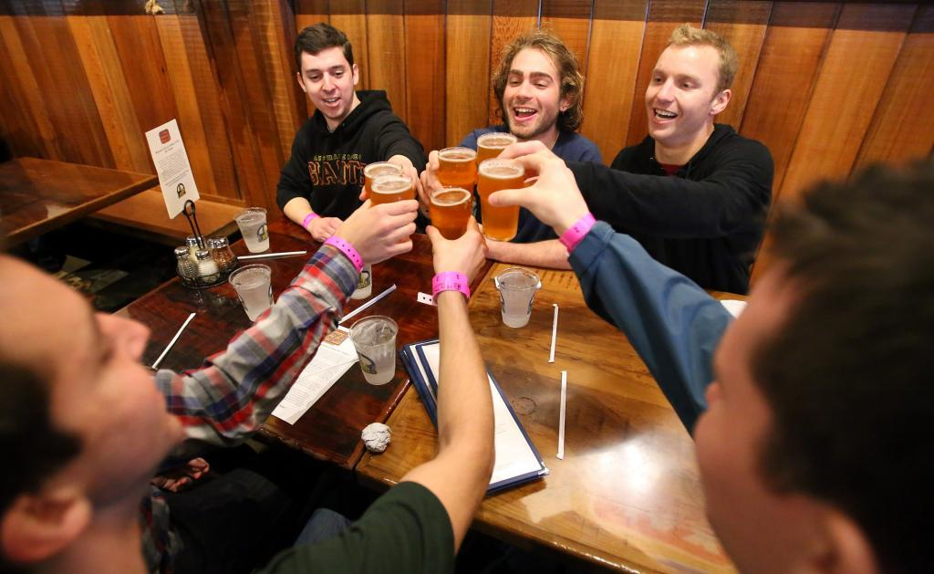 Yeah we know, this one everyone knows about, but it is a must. Russian River Brewing Co. in Santa Rosa draws crowds from all over for their famous Pliny the Younger, it might take awhile to get it, but this beer is still worth the wait. Get the flight of beers where you can try all their different ones. (CHRISTOPHER CHUNG/ Press Democrat)