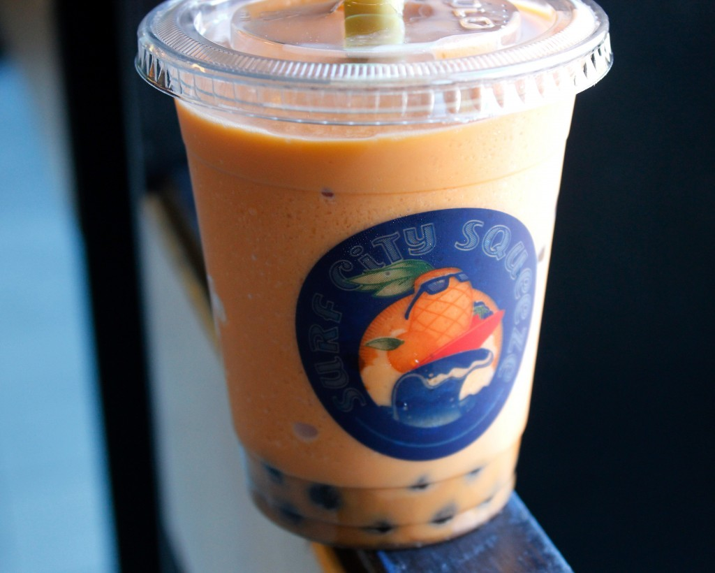 Thai Blended Milk Tea from Surf City Squeeze. (Photo by Jenna Fischer)