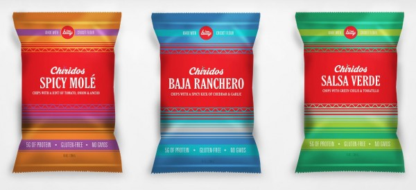 Chiridos, cricket flour chips from Bitty Foods at the Fancy Food Show 2016