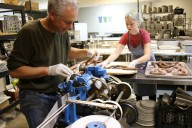 Dan Lehrer of Little Apple Treats makes caramels in Santa Rosa. His company is located in Sebastopol