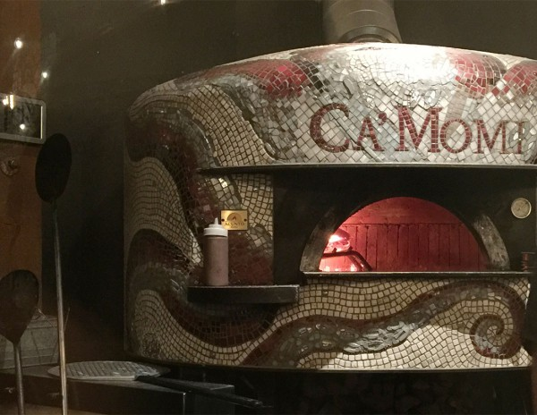 The mosiac oven at Ca'Momi Osteria in January 2016. Heather Irwin/PD