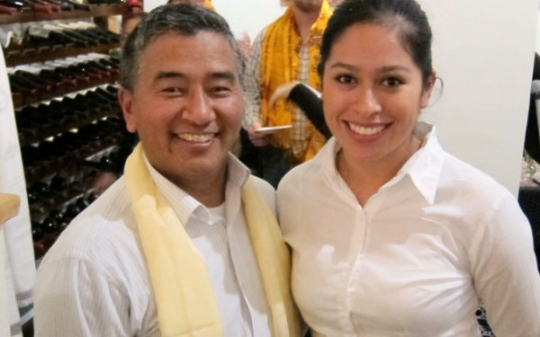 Nima Sherpa at the opening of his restaurant, Sonoma Grille, in December. Photo courtesy of Nima Sherpa.