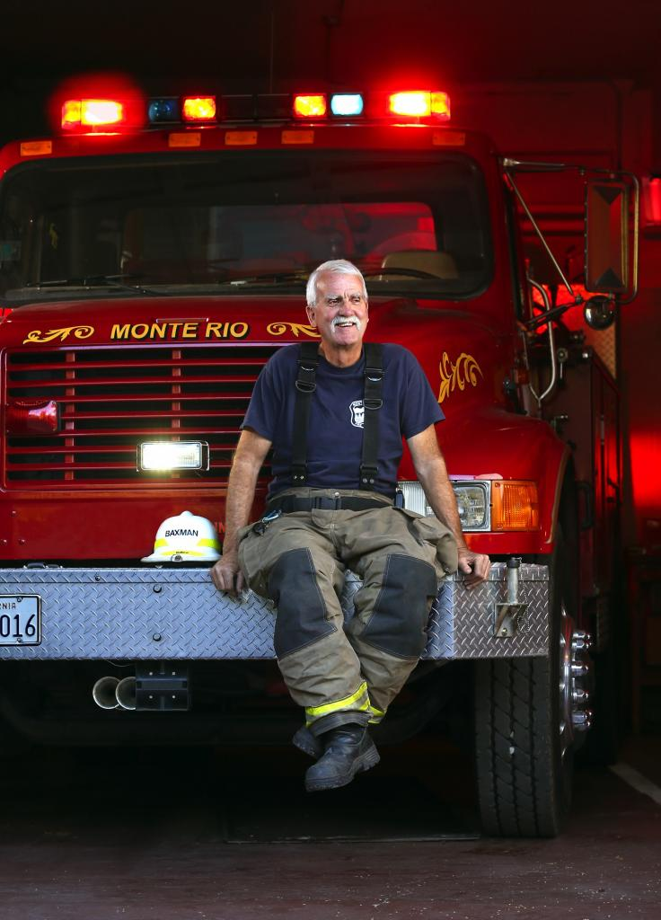 Capt. Steve Baxman has been saving lives and fighting fires on the Russian River for the past 45 years. (JOHN BURGESS / The Press Democrat)
