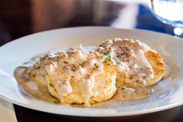 Biscuits and gravy at Sprenger's Tap Room: The secret breakfast. Photo: Nathan Pintor
