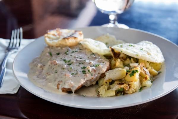 Chicken fried steak at Sprenger's Tap Room: The secret breakfast. Photo: Nathan Pintor