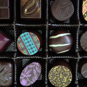 Chocolates from Eye Candy chocolatier in Sebastopol on 2/9/16. (Heather Irwin, Press Democrat)