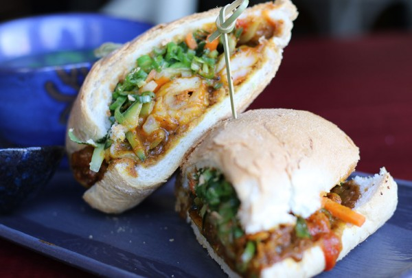 Banh mi at Persimmon Asian fusion restaurant in Healdsburg, California. (Heather Irwin)